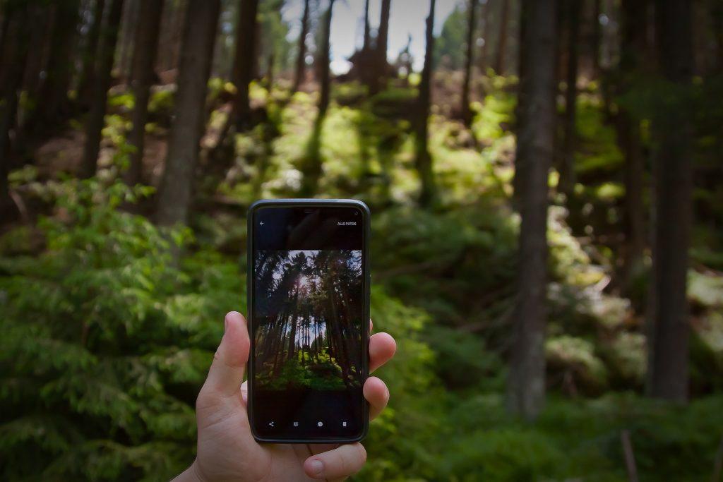 Bild Freizeit Smartphone-Fotografie mit Kindern